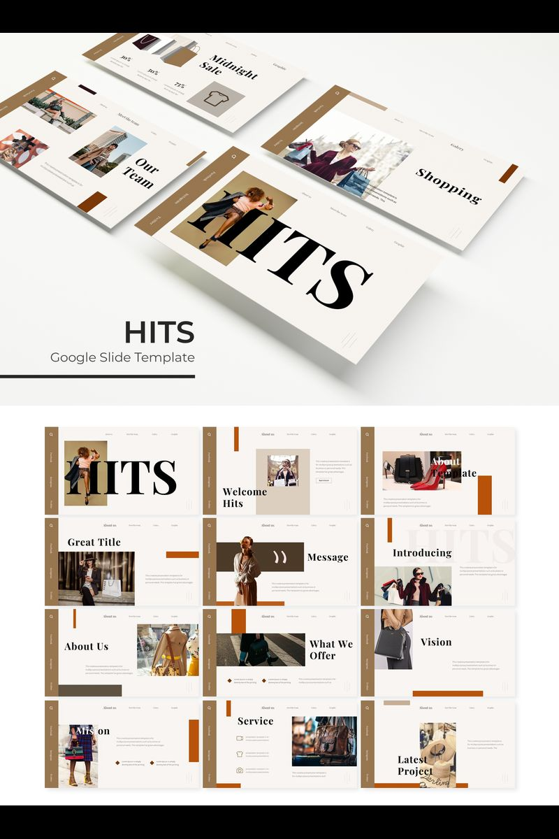 "Tema Google Slides #89715 ""Hits"""