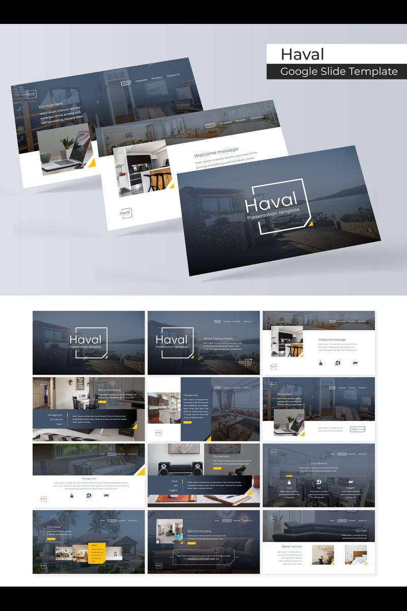 "Template Google Slides #89716 ""Haval"""
