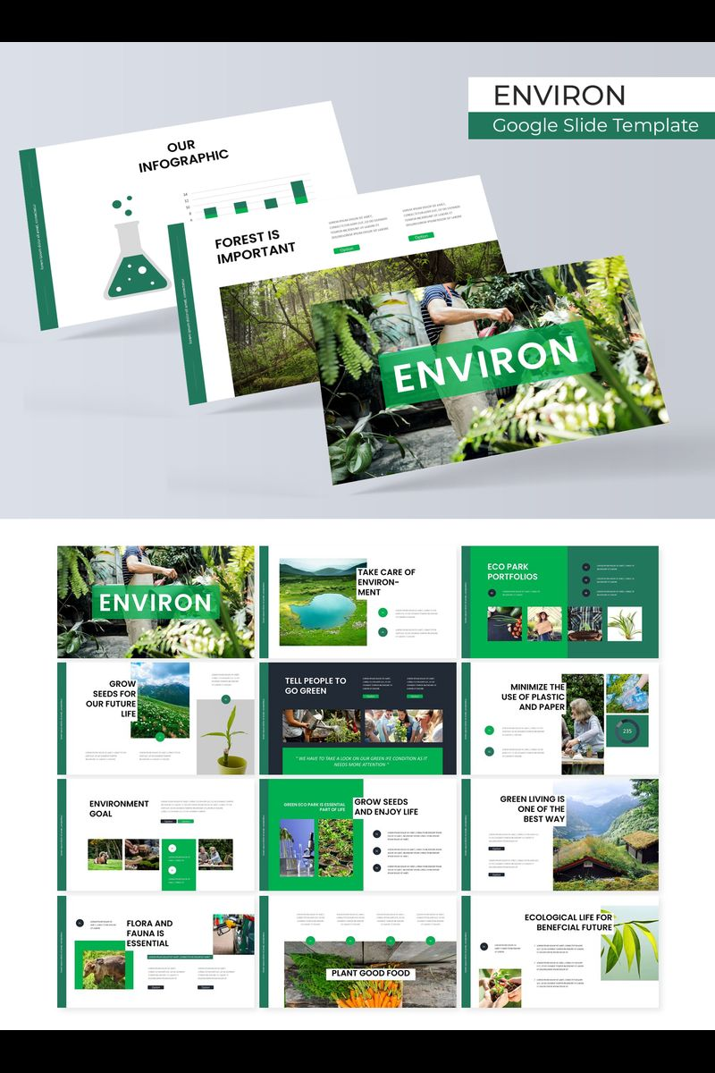"Template Google Slides #89719 ""Environ"""