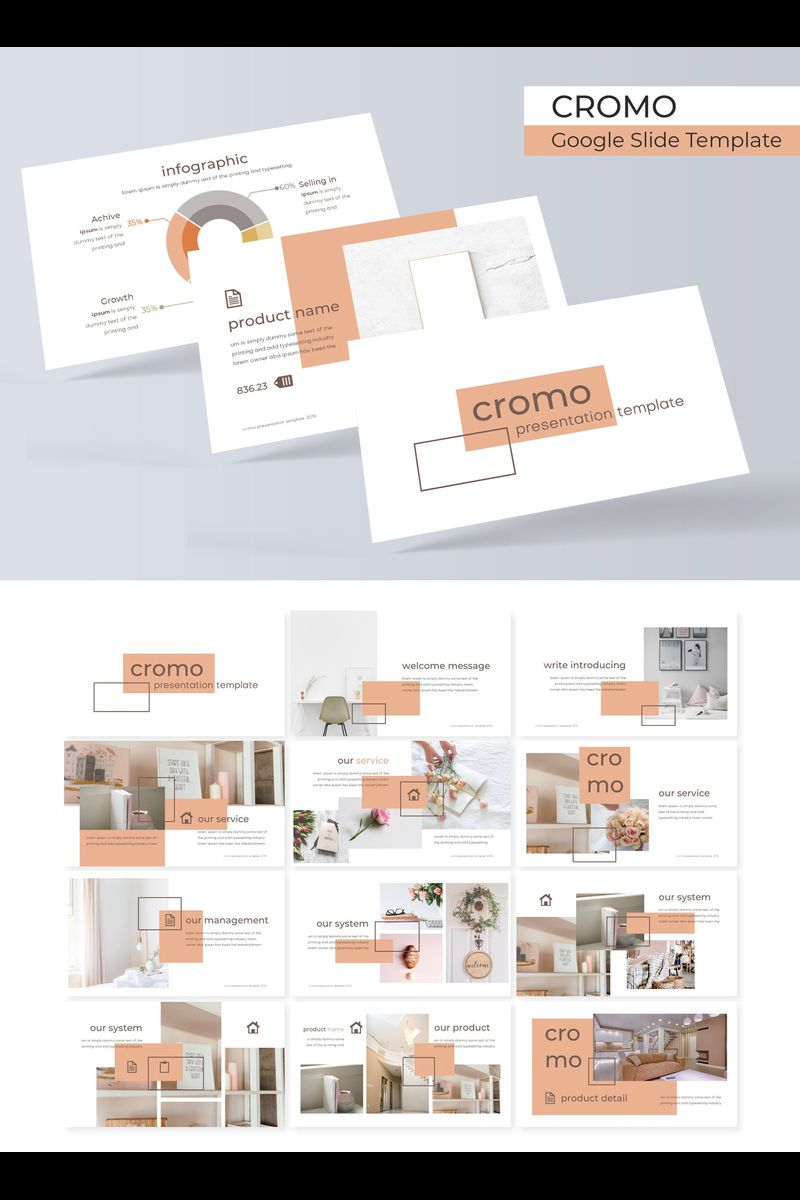 "Template Google Slides #89722 ""Cromo"""