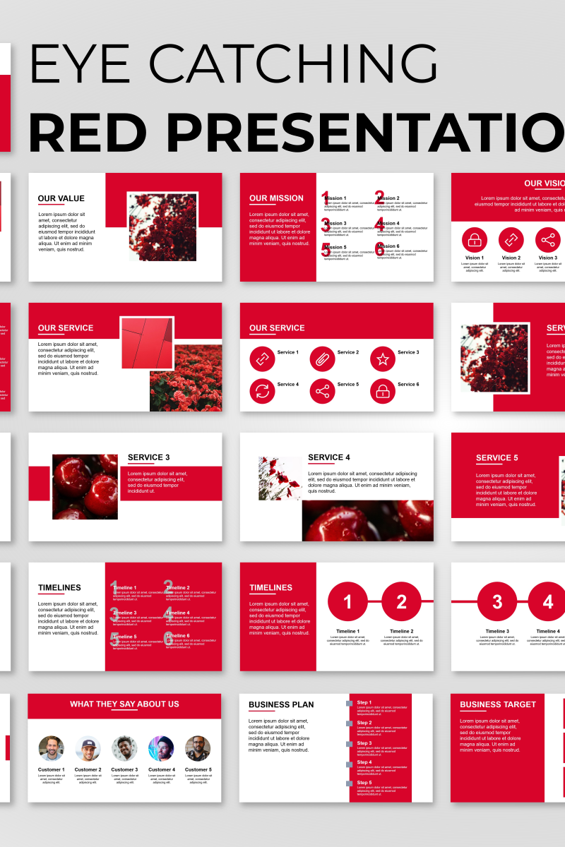 """Eye Catching Presentation"" PowerPoint Template №89841"