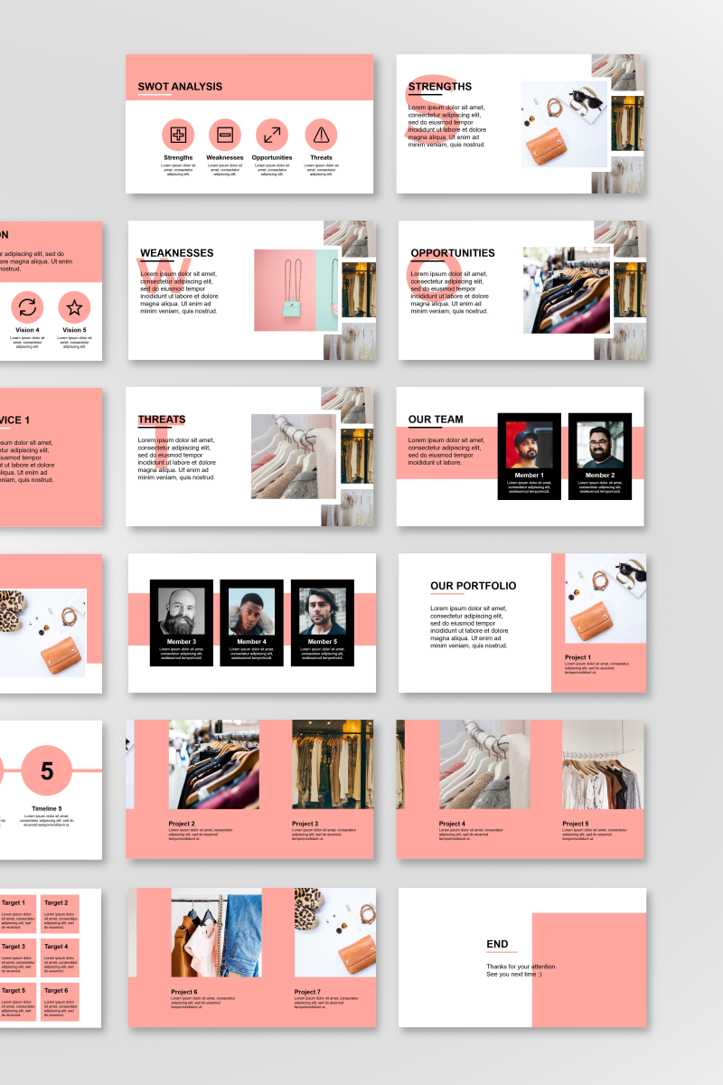 """Fashion Presentation"" PowerPoint Template №89842"