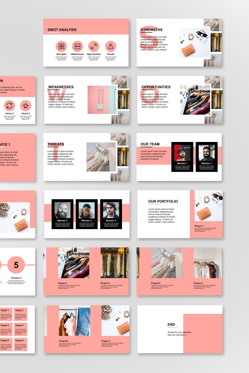 Fashion Presentation Template PowerPoint №89842 - captura de tela
