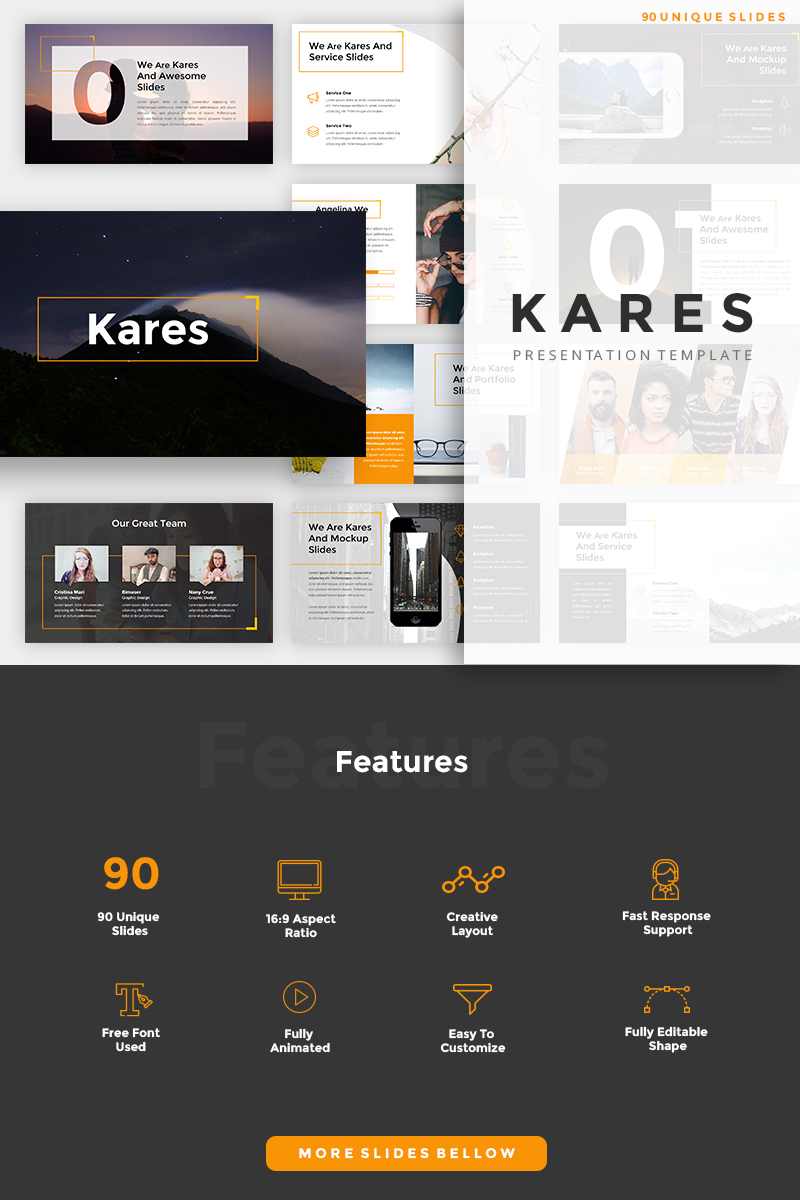 """Kares Creative"" PowerPoint Template №89804"