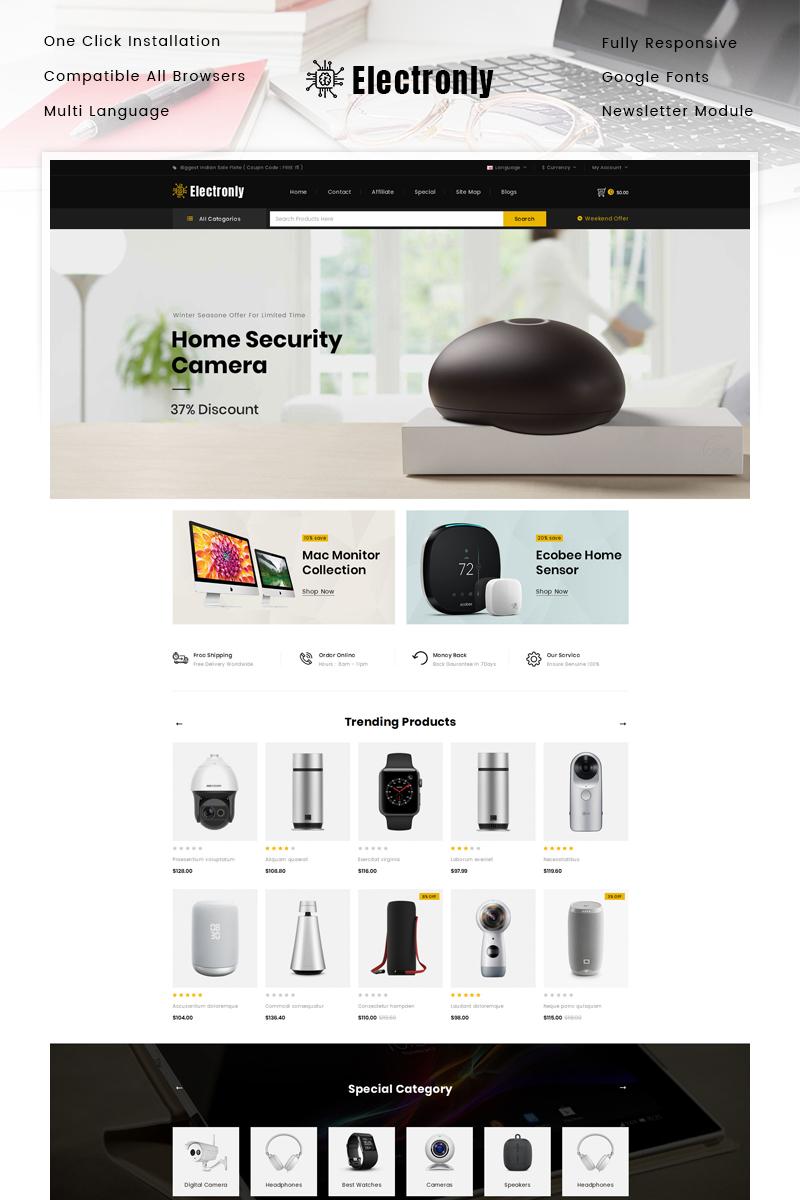 """Responzivní OpenCart šablona """"Electronly - Digital Store"""" #89830"""
