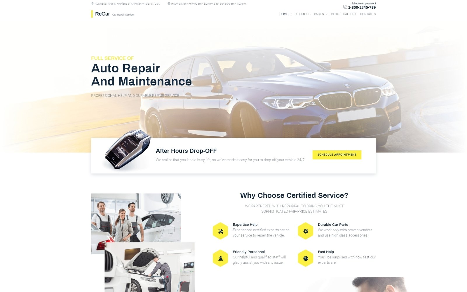 Reszponzív ReCar - Auto Repair Multipage Clean Joomla sablon 89808