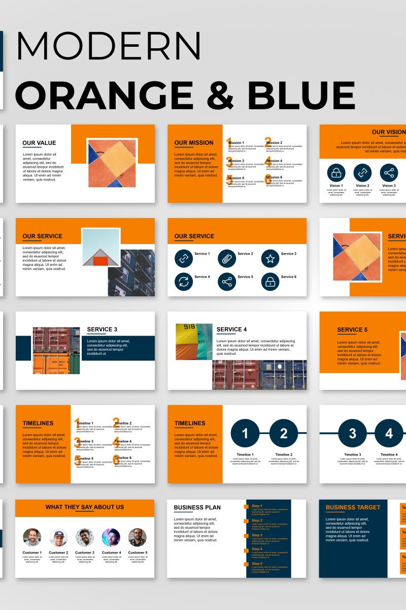 Trending Presentation Template PowerPoint №89840 - captura de tela