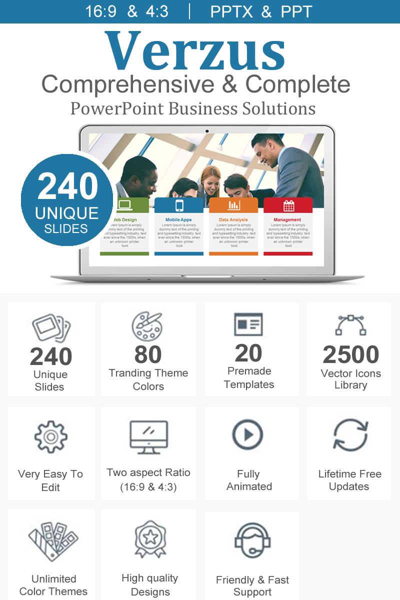 """Verzus - Creative & Minimal Presentation"" - PowerPoint шаблон №89844"