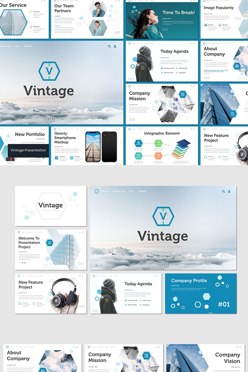 """Vintage"" PowerPoint Template №89806"