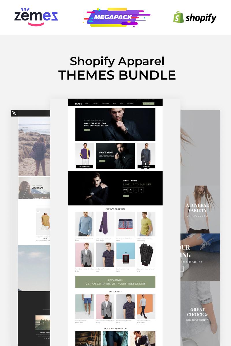 """Apparel Store Template Bundle"" - bootstrap Shopify шаблон №89934"
