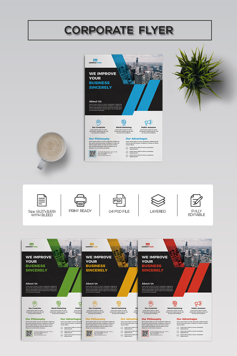 Elegant Business Flyer Corporate Identity Template