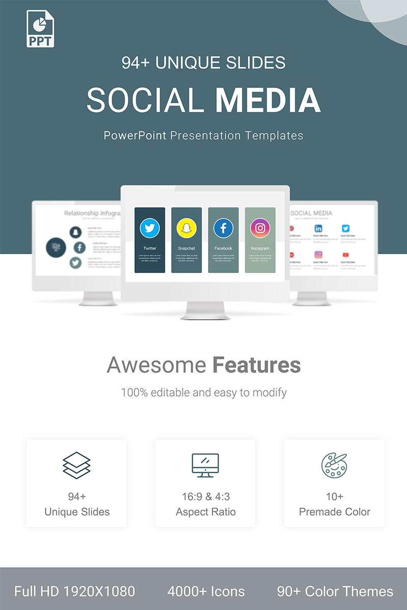 """""""Social Media User"""" modèle PowerPoint Premium #89959"""