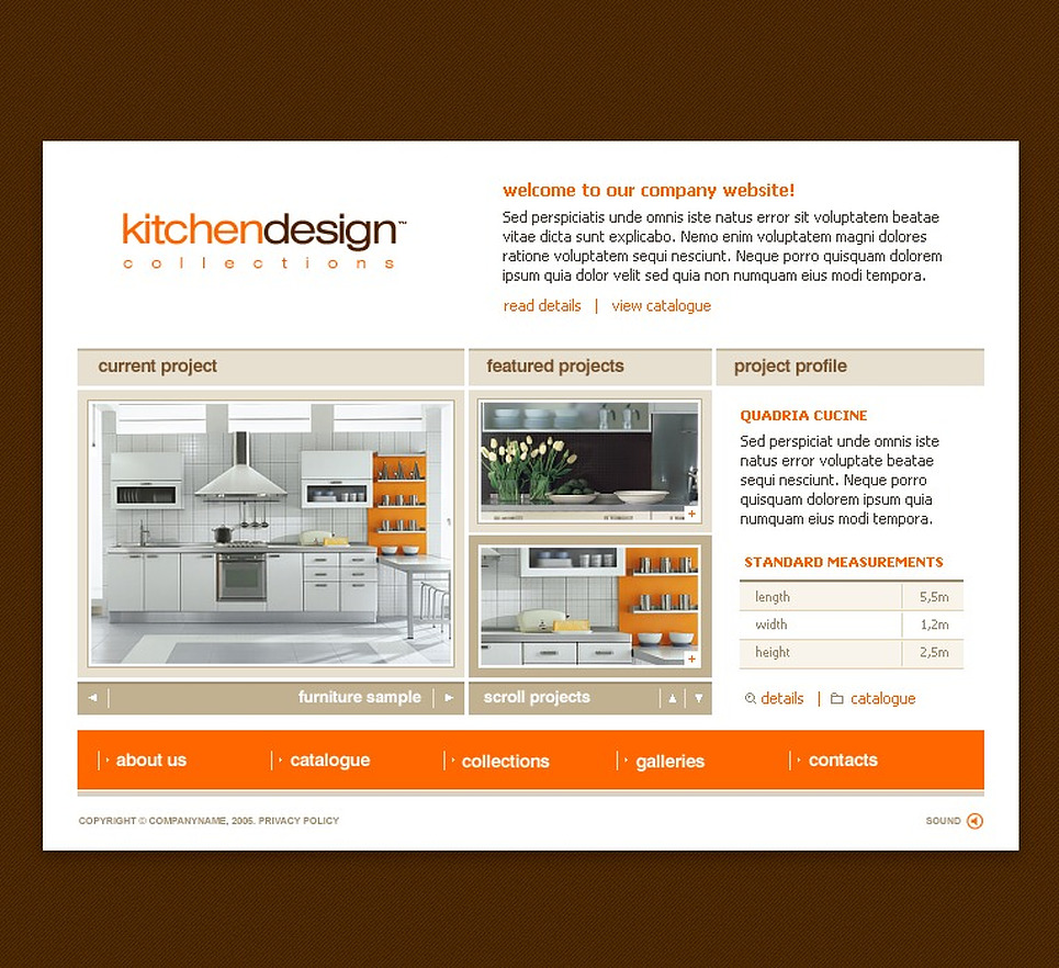 Interior Design Flash Template 9069
