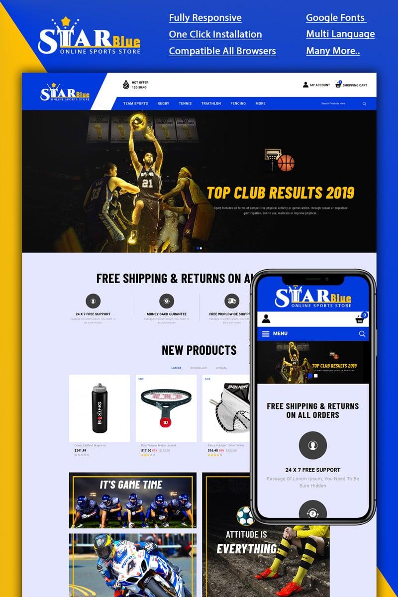 """Starblue - Online Sports Store"" thème OpenCart adaptatif #90052"