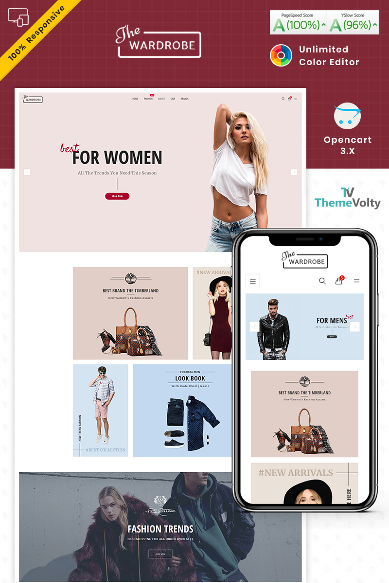 """""""Wardrobe - Fashion and Kids Shop"""" Responsive OpenCart Template №90053"""