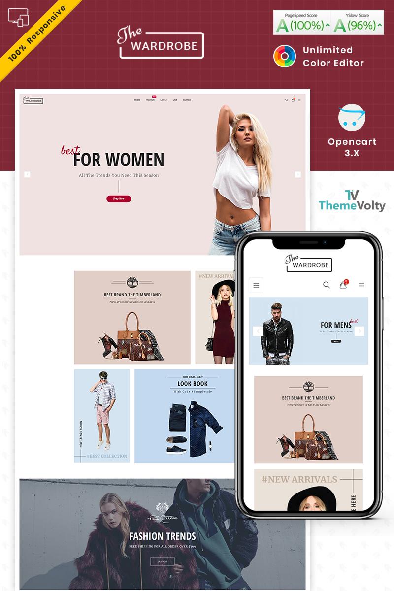 """Wardrobe - Fashion and Kids Shop"" 响应式OpenCart模板 #90053"