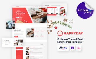 HappyDay - Christmas Themed Event Landing Page Template