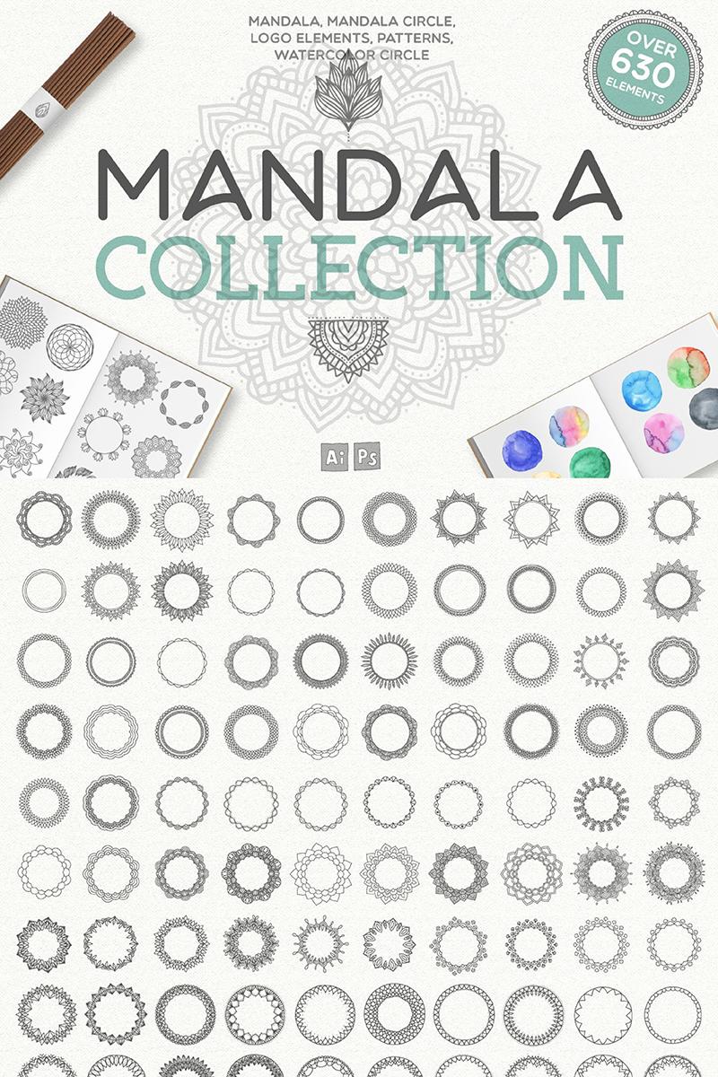 """Ilustración """"Mandala Collection [ 630 Elements ]"""" #90132"""