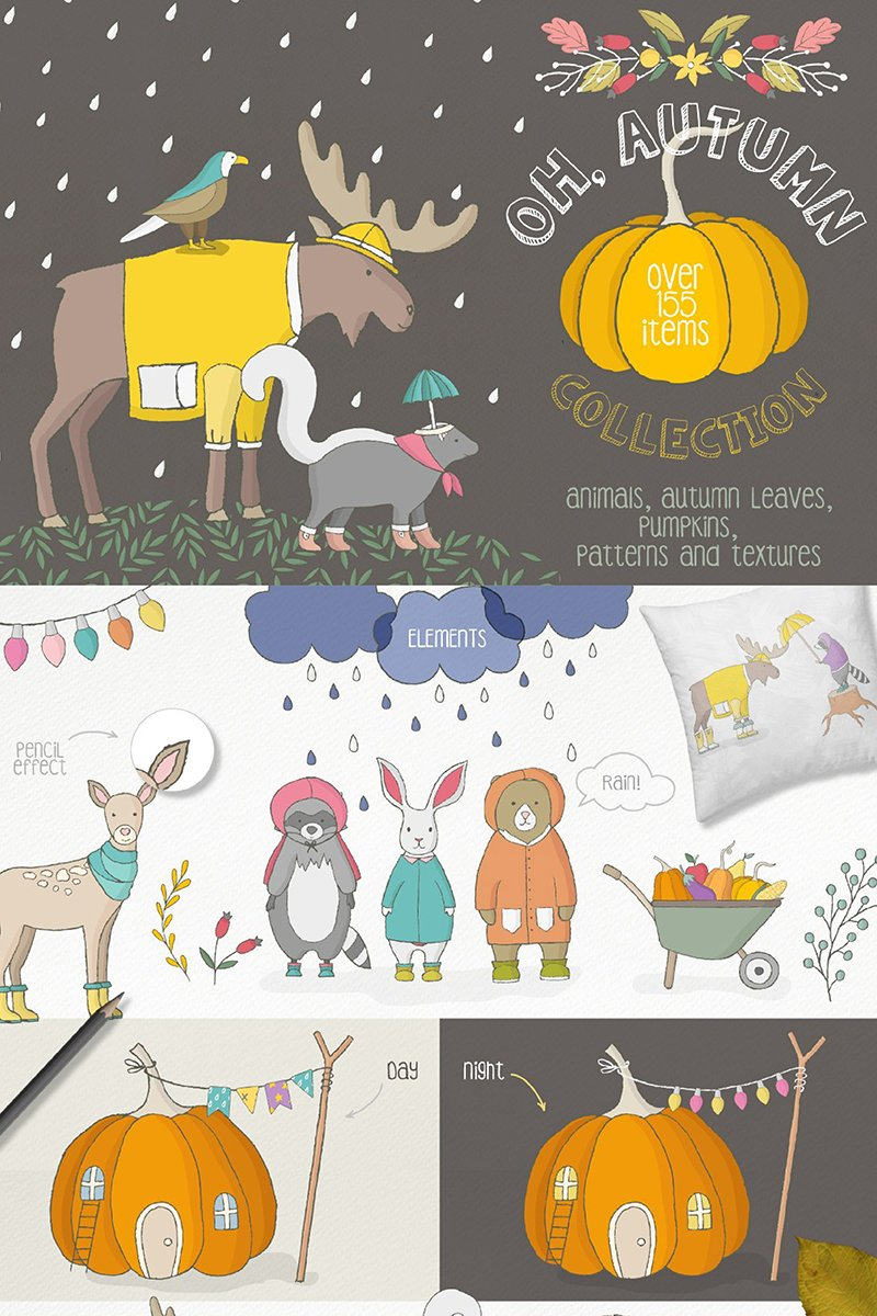 "Ilustración ""Oh Autumn Collection"" #90130 - captura de pantalla"