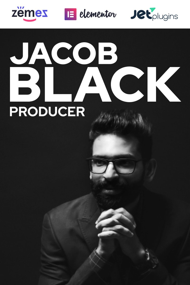 Jacob Black - Talented Music Producer Website Design WordPress Theme - screenshot