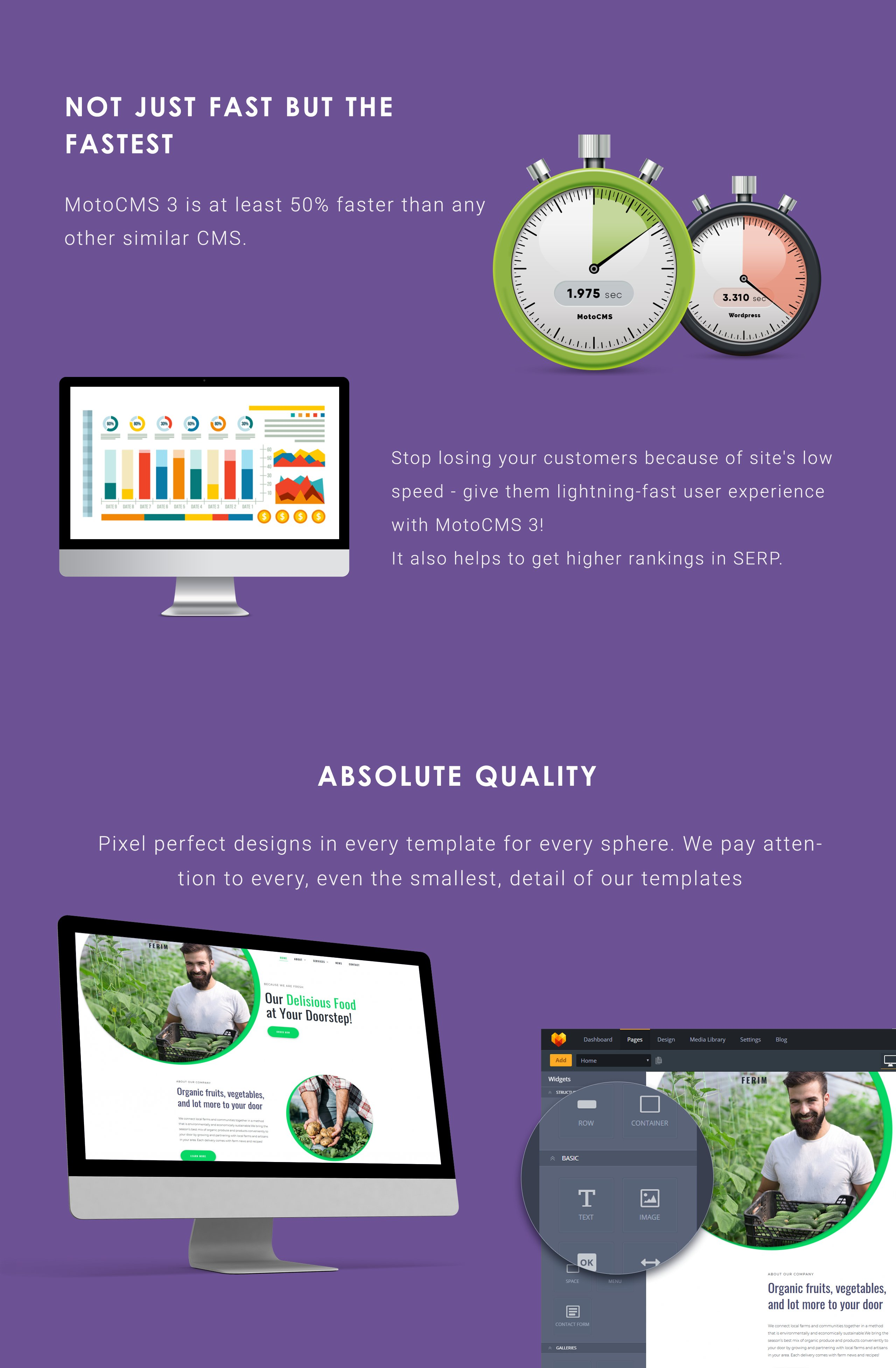 Ferim - Food Delivery Moto CMS 3 Template