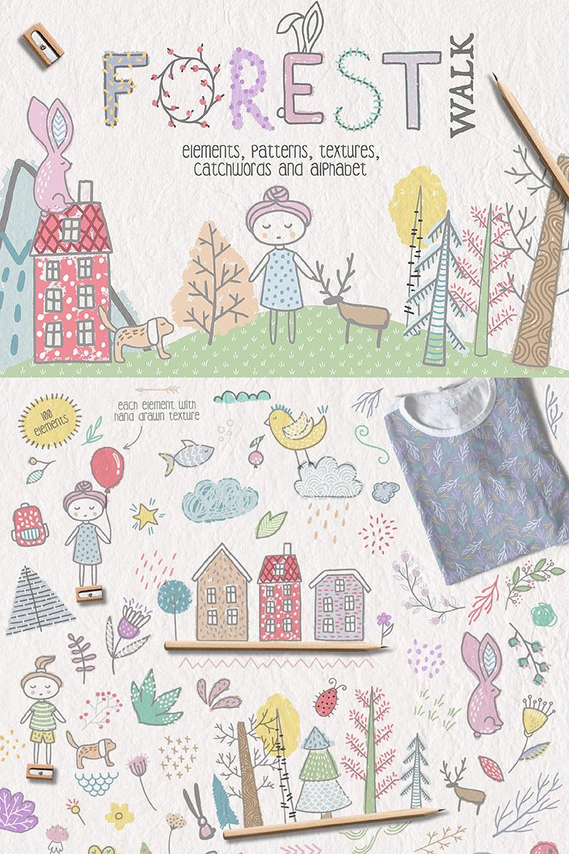 "Ilustración ""Forest Walk Collection"" #90228"