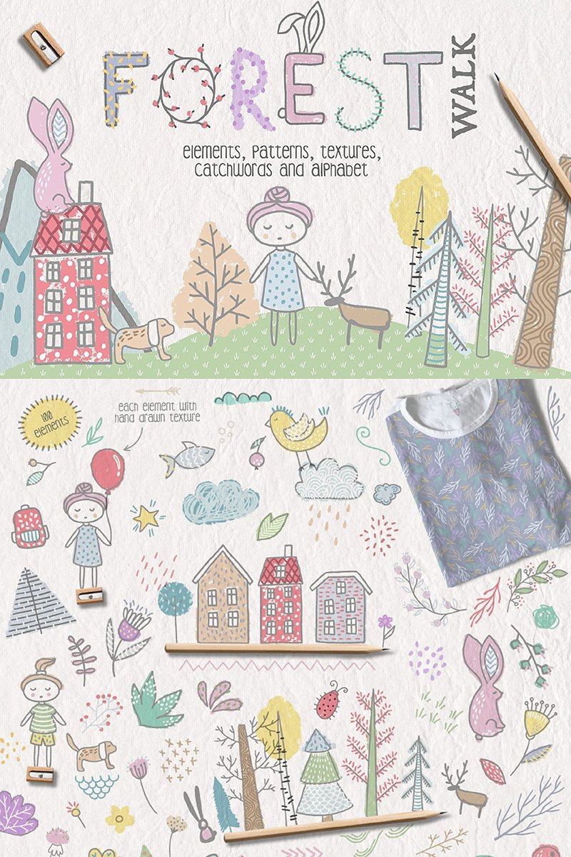 Ilustracja Forest Walk Collection #90228