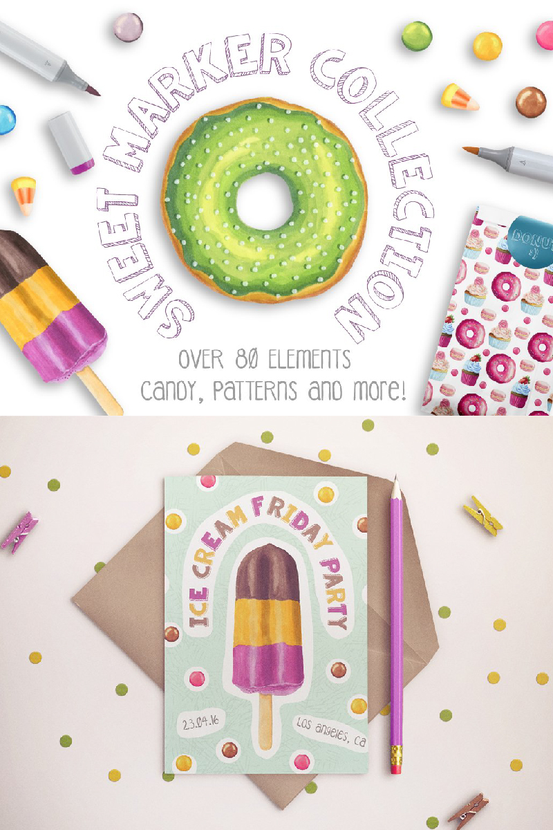 Ilustracja Sweet Marker Collection #90236