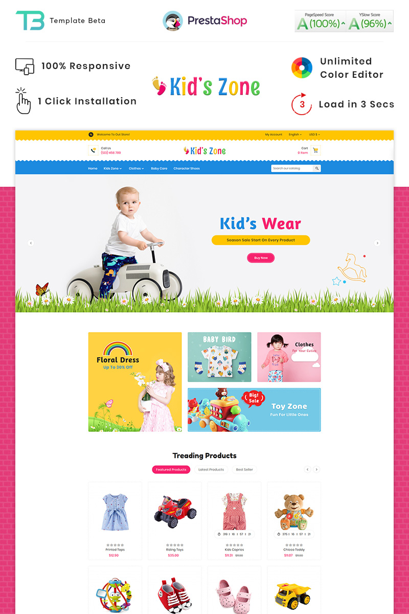 Kids Zone Toy Store PrestaShop Theme