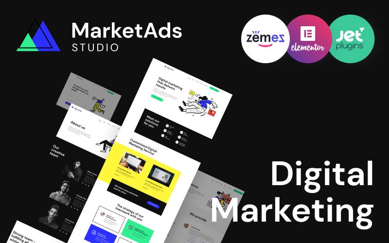 """MarketAds - One of Modern Digital Marketing Templates"" - адаптивний WordPress шаблон №90259"