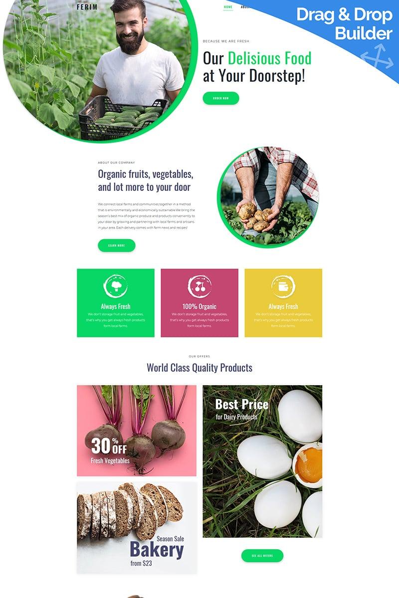 Responsive Ferim - Food Delivery Moto Cms 3 #90238