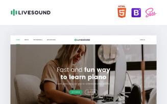 Livesound - Music School Landing Page Template