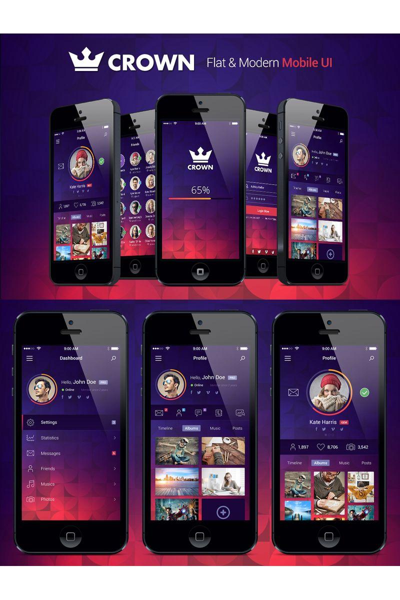 Crown - Fresh Mobile UI Elements #90340