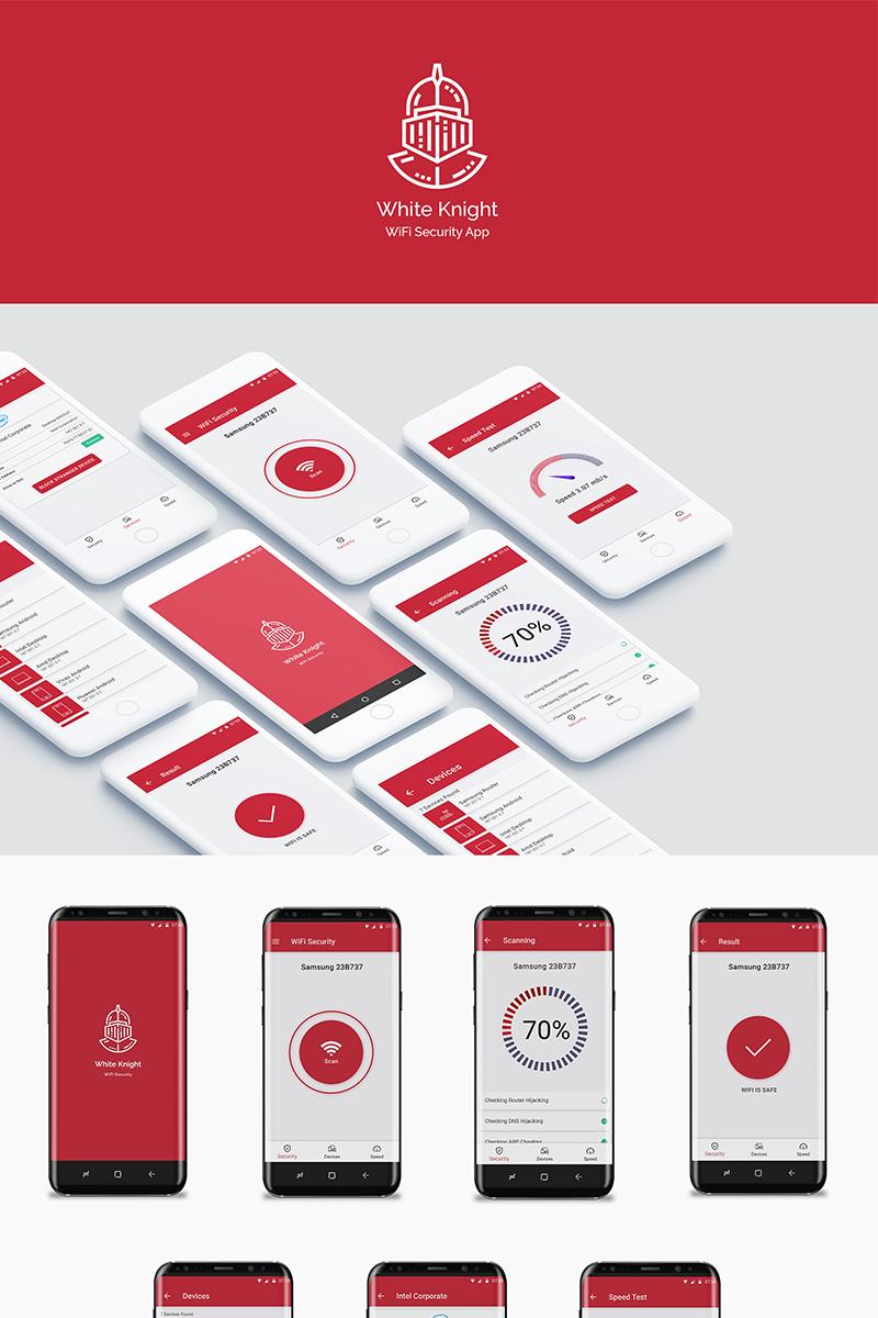 White Knight WiFi Security App Kit UI Elements - screenshot