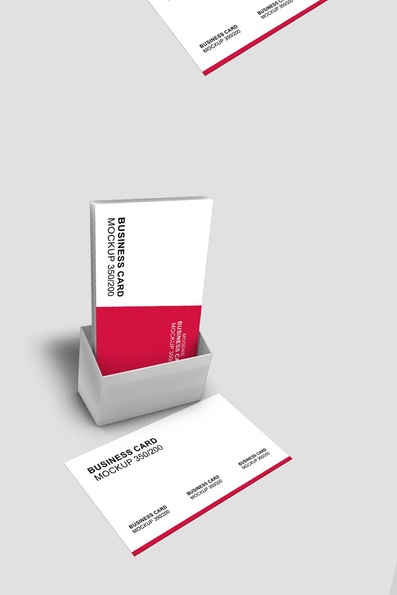 Business card in a holder Product Mockup
