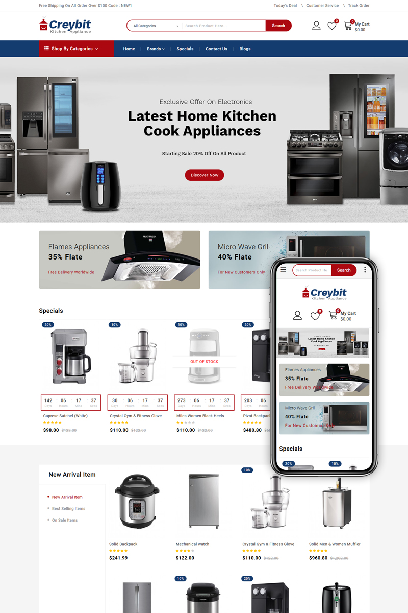 Creybit - Multipurpose OpenCart Template - screenshot