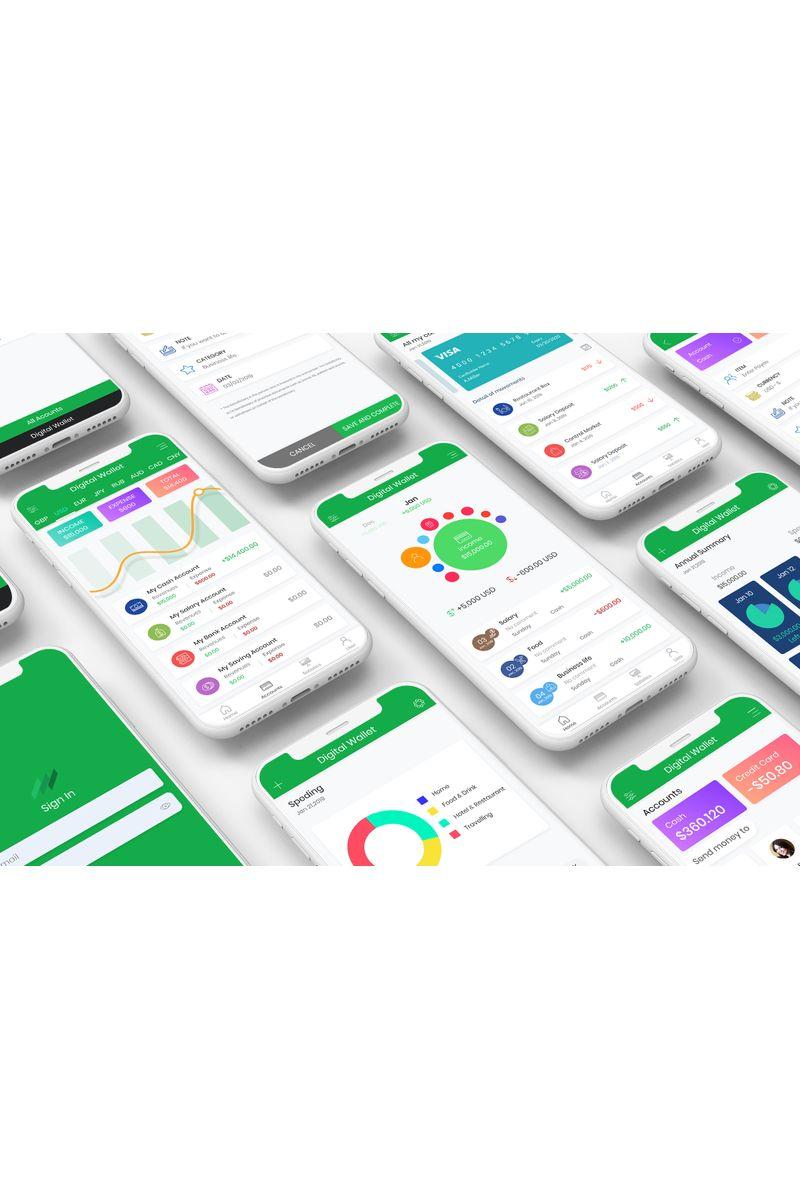 Digital Mobile Wallet UI UI Elements #90409