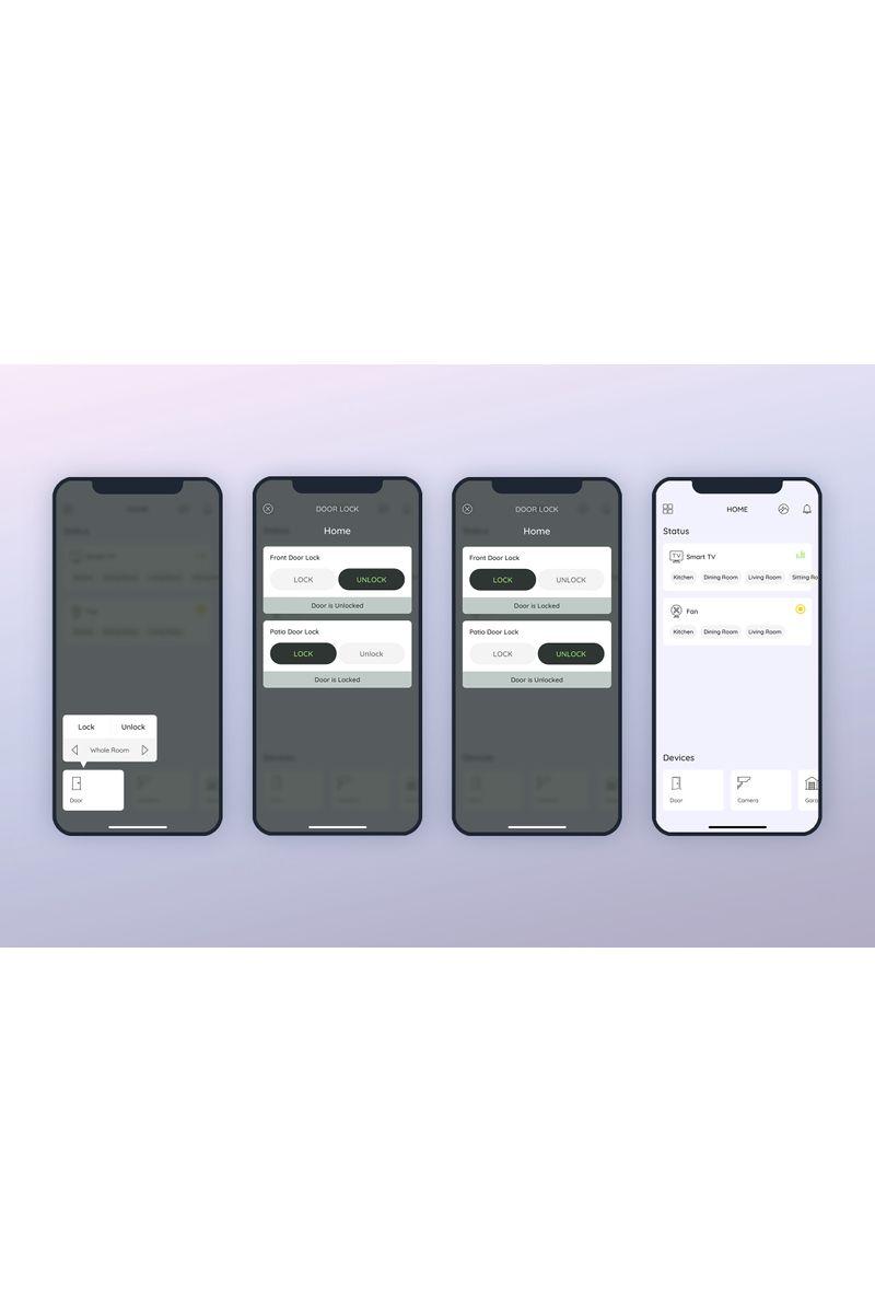 Door Smarthome Mobile UI UI Elements #90407