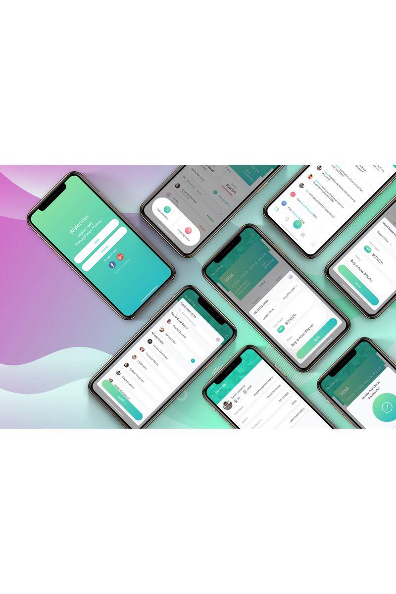 Financial App UI Mobile Kit 2 UI Elements #90402
