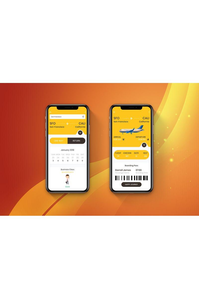 Flight Booking 1 UI Elements #90401
