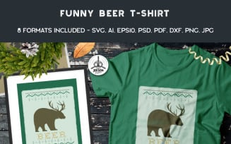 Funny Christmas Ugly Sweater - Beer - T-shirt Design