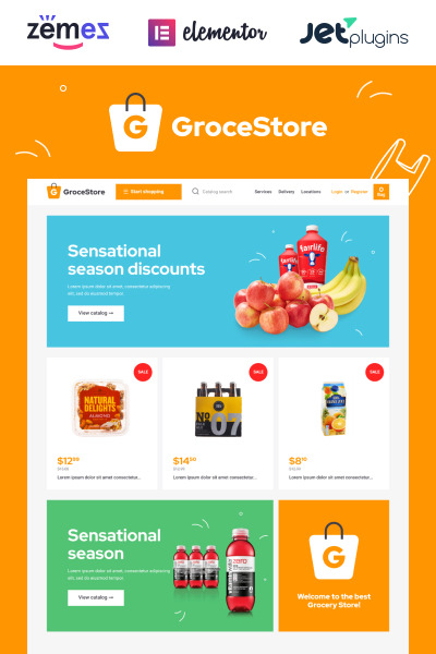 GroceStore - Bright And Attractive Grocery eCommerce Website