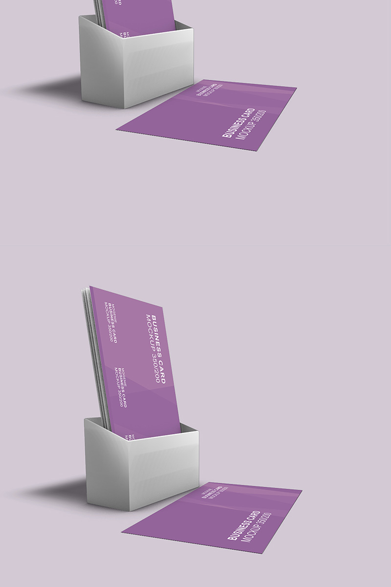 Holder full of Business Cards Product Mockup 90442