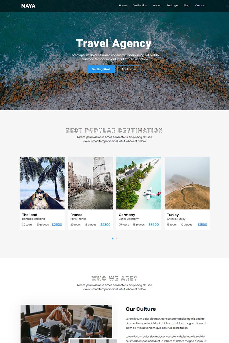"""Maya - Travel Agency"" modèle  de page d'atterrissage Bootstrap #90411"