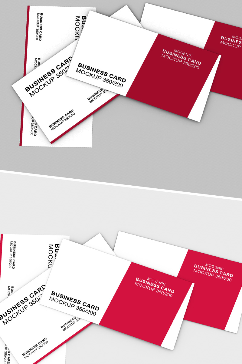 """Mockup De Producto """"Scattered stack of business cards"""" #90448"""