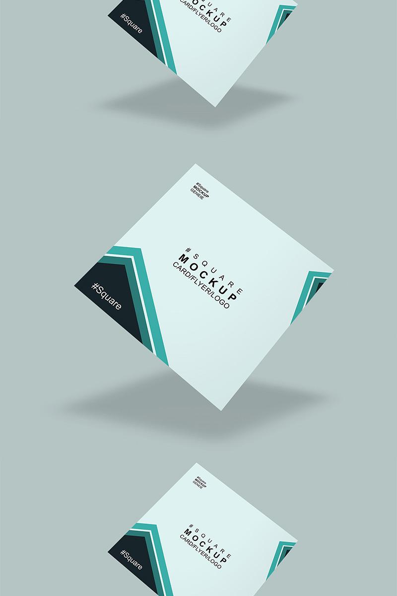 """Mockup De Producto """"Square card"""" #90447"""
