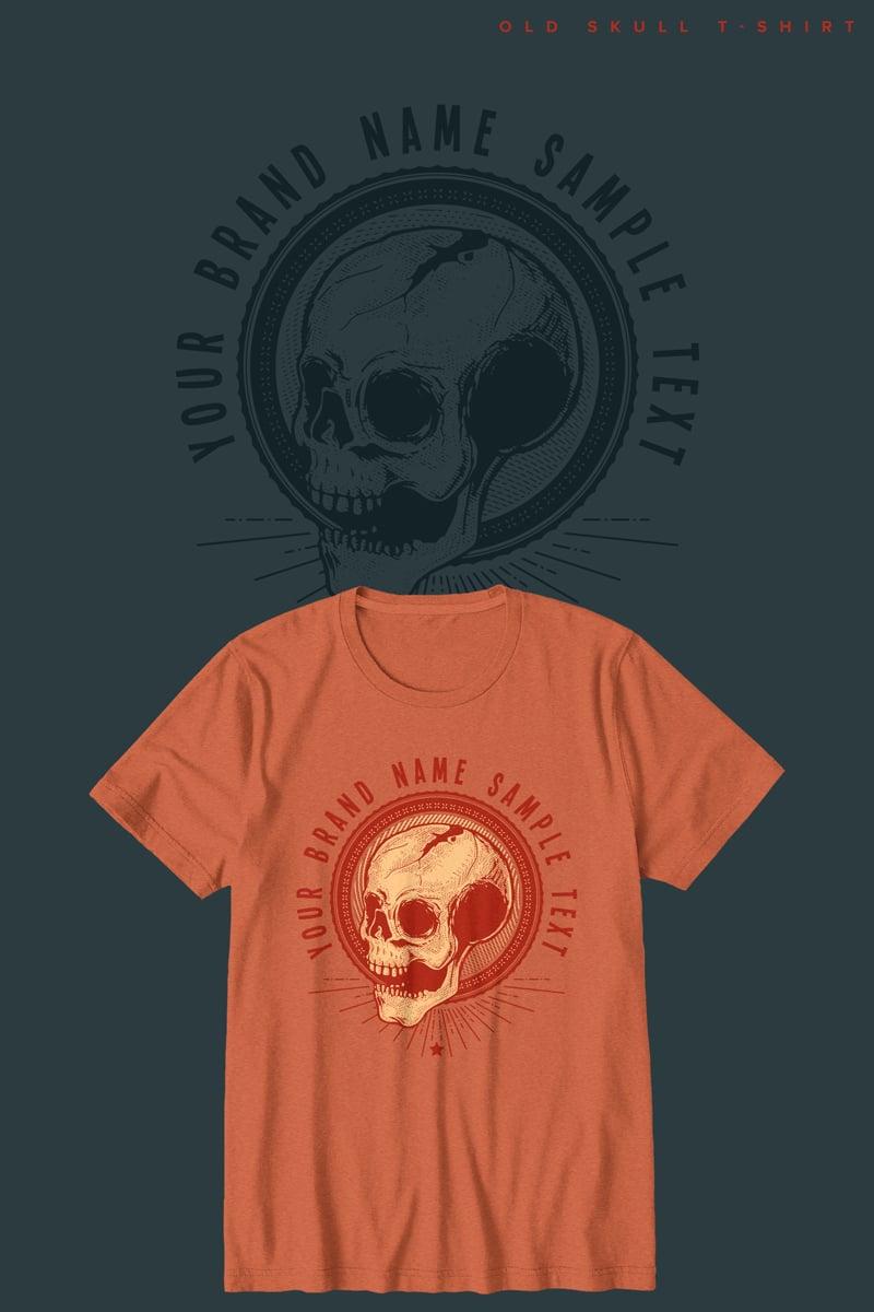 """""""Old Skull"""" T-shirt №90474"""