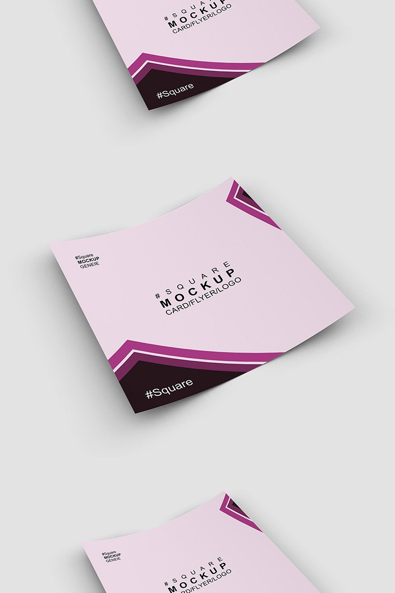 "Produktmodell namens ""Square card business card on a flat sruface"" #90445"