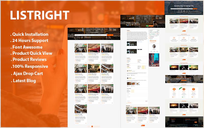 Responsive Listright- Directory Listing HTML5 Web Sitesi #90415