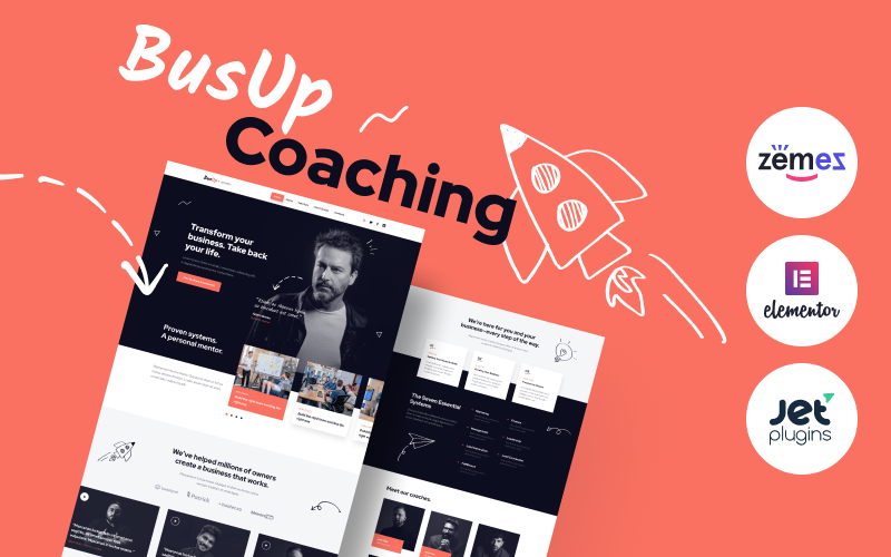 Responsivt BusUp - Engaging And Inspiring Public Speaker Website WordPress-tema #90400